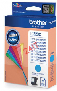 BROTHER LC-223C (inkoust cyan, 600 str.@ 5% draft)