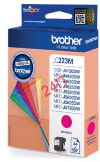 BROTHER LC-223M (inkoust magenta, 600 str.@ 5% draft)