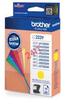 BROTHER LC-223Y (inkoust yellow, 600 str.@ 5% draft)