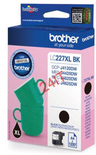 BROTHER LC-227XLBK (inkoust black, 1 200 str.@ 5% draft)