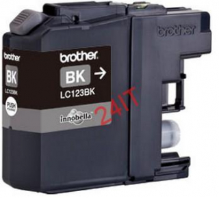 BROTHER LC-123BK (inkoust black,600 str.@ 5% draft)