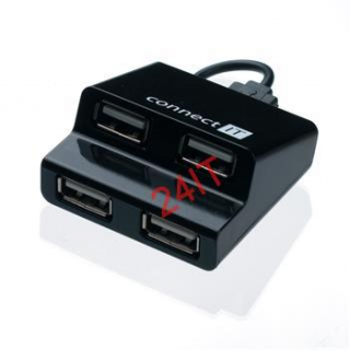 CONNECT IT CI-108 USB hub 4 porty STEP - černý