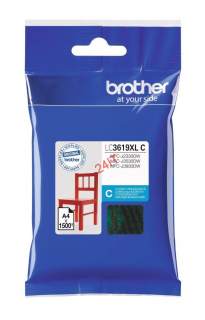 BROTHER LC-3619XLC (inkoust cyan, 1 500 str. @ 5% draft)