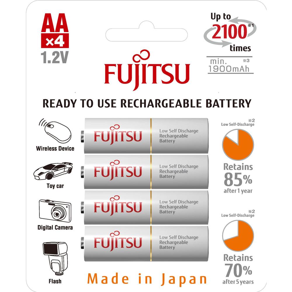 Fotografie FUJITSU HR-3UTCEX-4B WHITE AA 4x