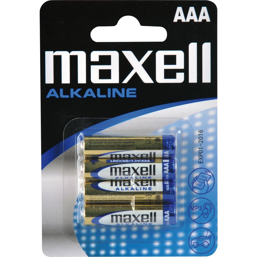 Fotografie MAXELL LR03 4BP Alkalické 4x AAA (R03)