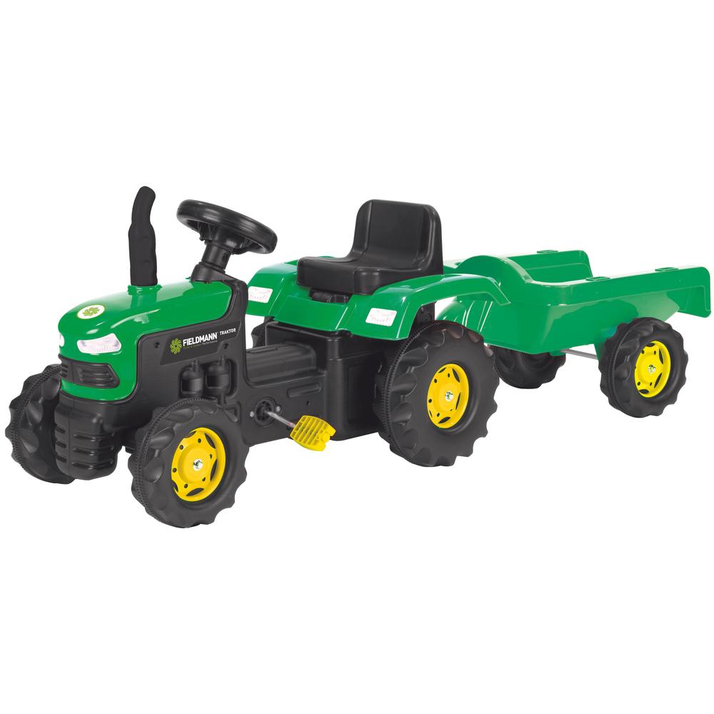 BUDDY TOYS BPT 1012 Šlapací traktor s vozíkem