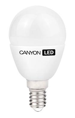CANYON LED COB žárovka , E14 ,kompakt mléčná,6W,470 lm,teplá bílá 2700K,230V