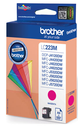 Fotografie BROTHER LC-223M (inkoust magenta, 600 str.@ 5% draft)
