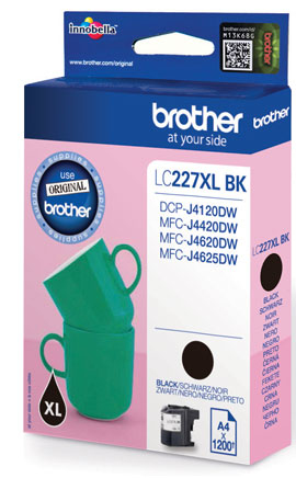 Fotografie BROTHER LC-227XLBK (inkoust black, 1 200 str.@ 5% draft)