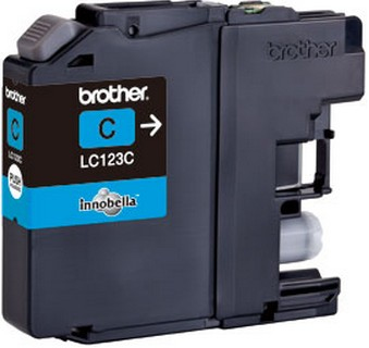 Fotografie BROTHER LC-123C (inkoust cyan,600 str.@ 5% draft)