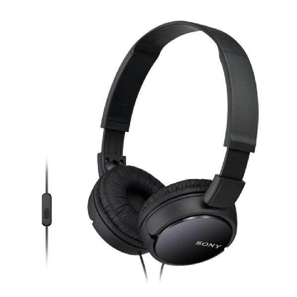 SONY MDR-ZX110AP Uzavřená sluchátka na uši s mikrofonem - Black