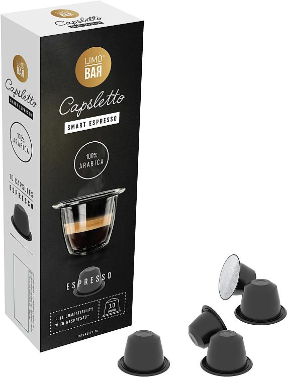Fotografie LIMO BAR capsletto Espresso 100% ARABICA - 10 kapslí
