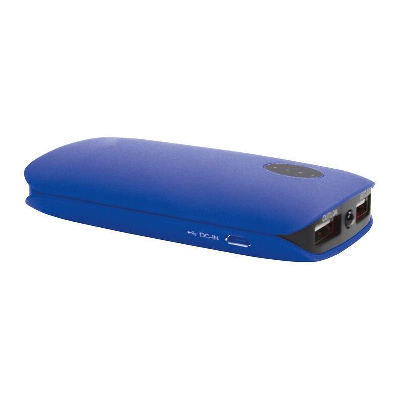 Fotografie OMEGA POWERBANK 5000mAh 2 xUSB (1A + 2.1A), pogumovaná, modrá