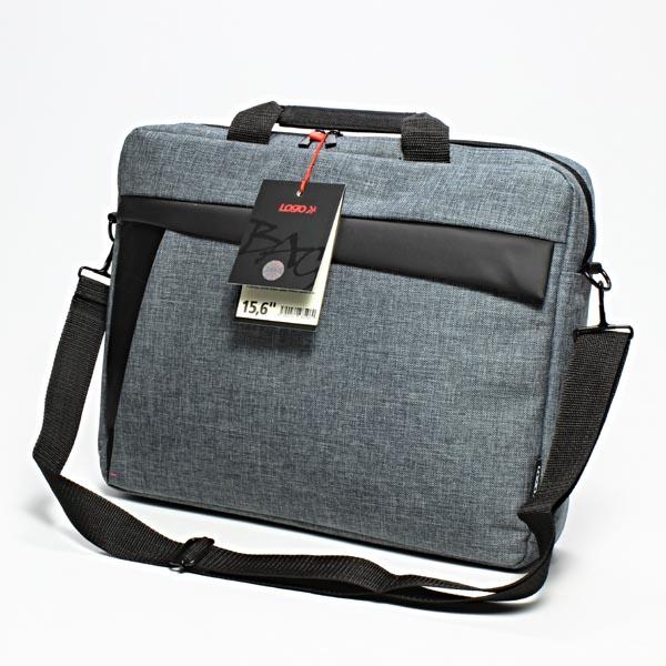 """LOGO Trendy taška na notebook, 15.6"""",New York,popruh na rameno,šedá z plátna"""