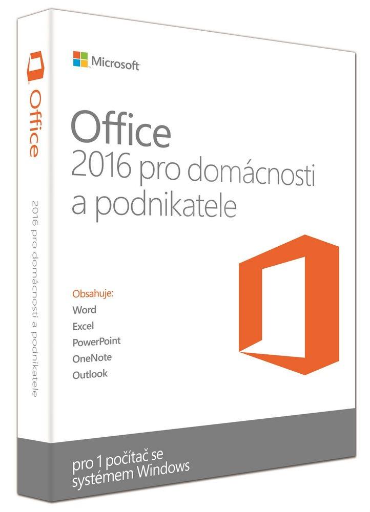 Microsoft Office 2016 pro domácnosti a podnikatele 32/64 bit Czech Eurozone Medi