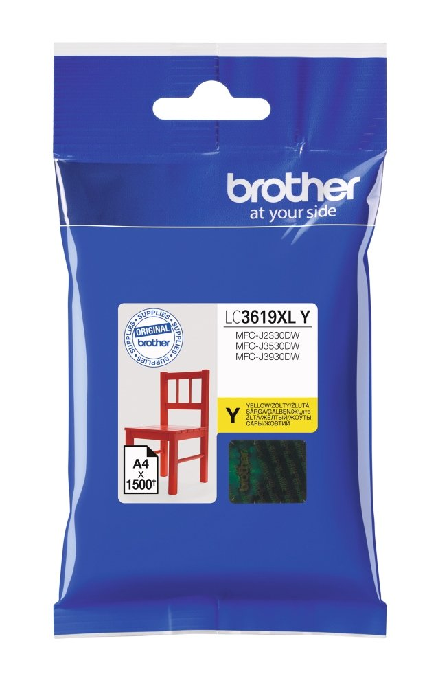 BROTHER LC-3619XLY (inkoust yellow, 1 500 str. @ 5% draft)