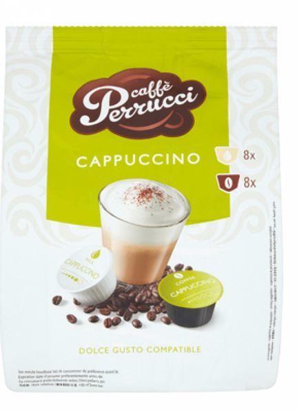 Caffe Perrucci Cappuccino 8+8 kapslí ( DOLCE gusto kompatibilní)
