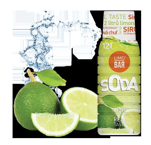 LIMO BAR Sirup LIMETKA 500ml (až 12l ochuceného nápoje)